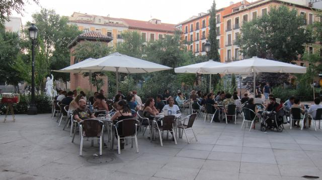 The terrace of 2D, Calle Velarde, 24, Madrid