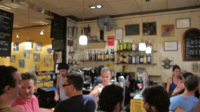 Inside Lamiak having a drink, Calle Cava Baja, 42, Madrid