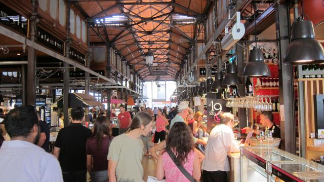 Inside the Mercado de San Miguel