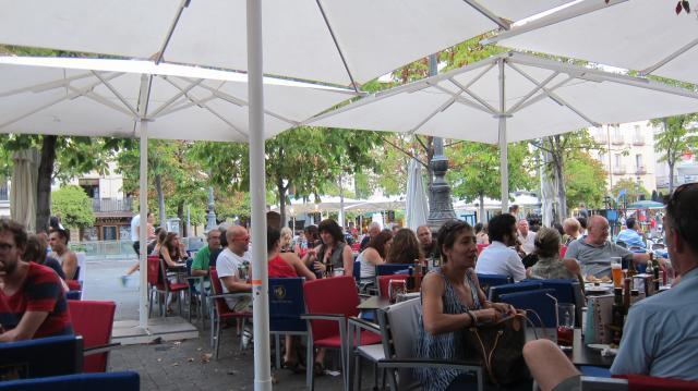 A terrace in Plaza de Santa Ana, Madrid