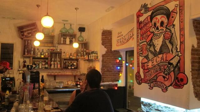 The Blegger guia de barres - María Bonita Taco Bar - Lavapiés Calle Olmo, 23, Madrid