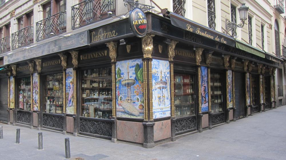The Blegger Pub Guide - La Fontana De Oro Irish bar in Sol, Calle de la Victoria,1, Madrid, Spain
