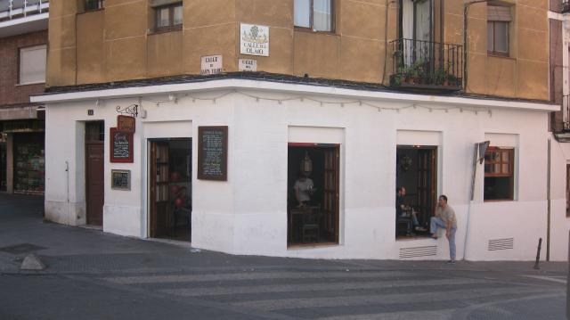 Outside of the Terral bar in Calle de Santa Isabel, 14, Madrid