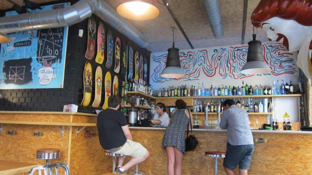 The bar at the Zombie Bar in Malasaña, Calle del Pez, 7, Madrid