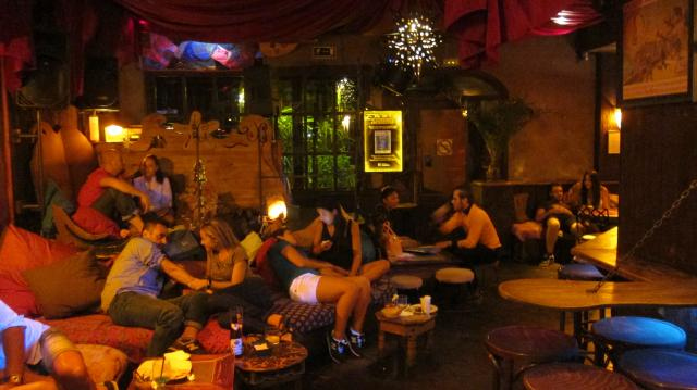 Relaxing in the Areia Colonial Chill Out from The Blegger Bar guide, Calle Hortaleza, 92, Madrid