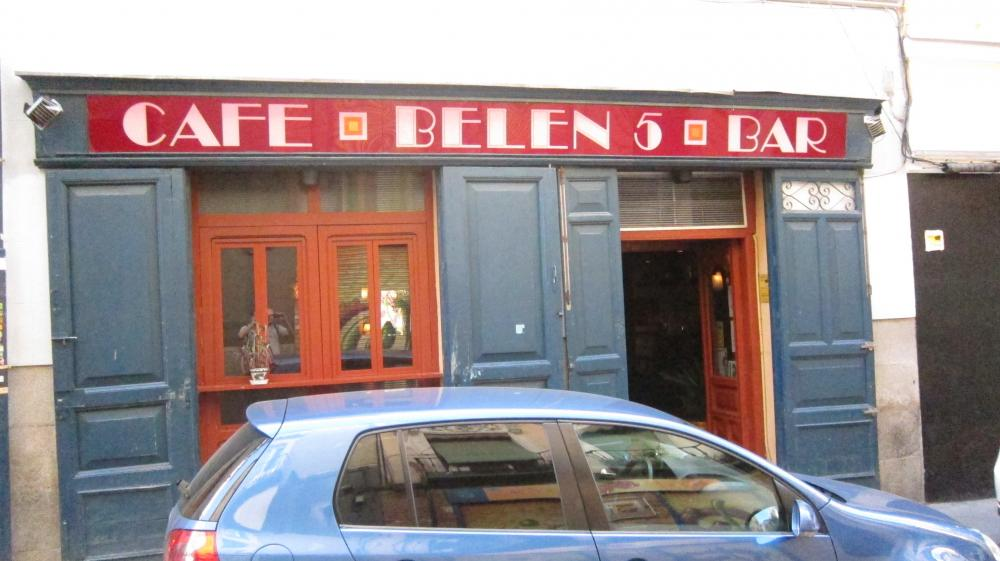The front of Café Belén bar review. C/ Belén, 5, Madrid