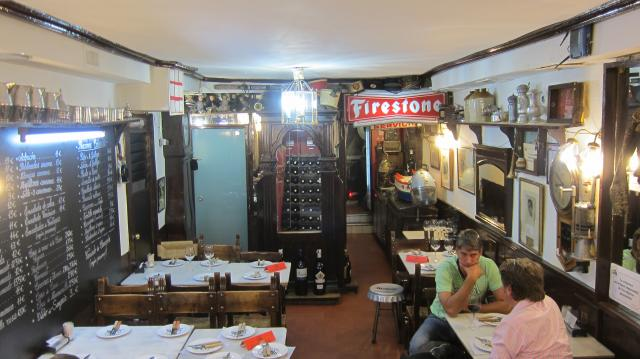 The back room at Los Gatos bar in Calle de Jesús, 2, Madrid